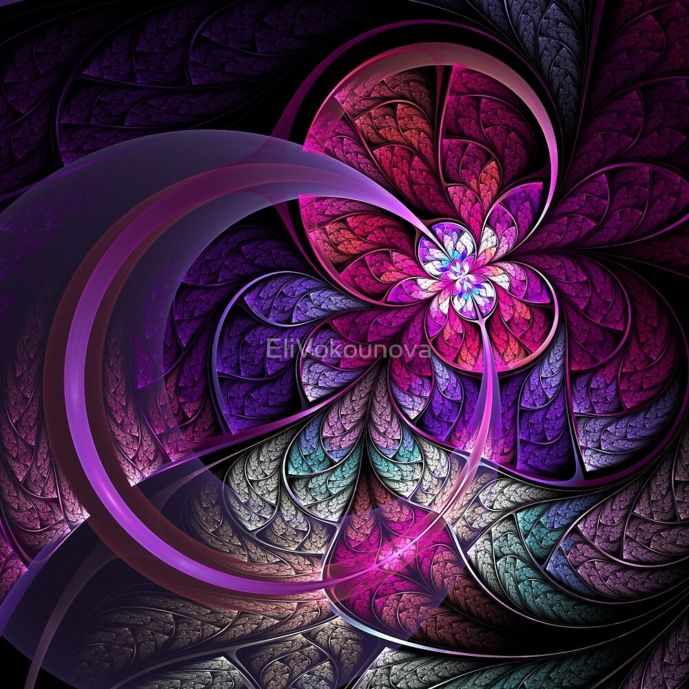 Fly - Abstract Fractal Artwork by EliVokounova