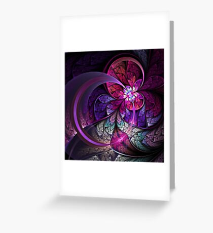 Fly - Abstract Fractal Artwork Greeting Card