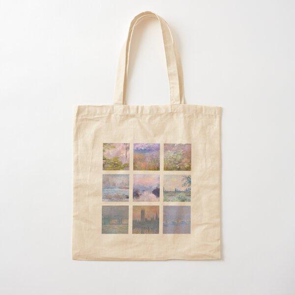 soft monet collage Cotton Tote Bag