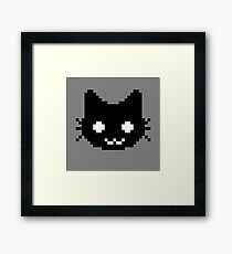 8-bit kitten Framed Print