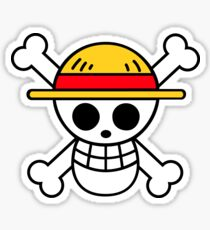 one piece pirate flag! Sticker