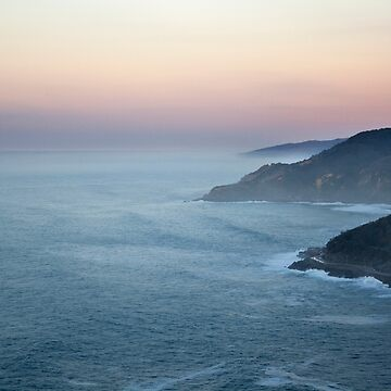 Sunset on the coast by martinbenito