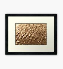 Tidal Gold Framed Print