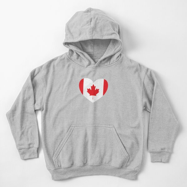 Childrens Canada Flag Lips Kiss Sweater Boys Girls Pullover Sweaters