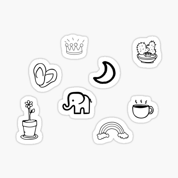 Mini doodle sticker pack 2 Sticker