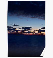 Sea, Sunset. Movement. Poster