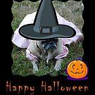 Pug Dog Halloween Card by Jonice