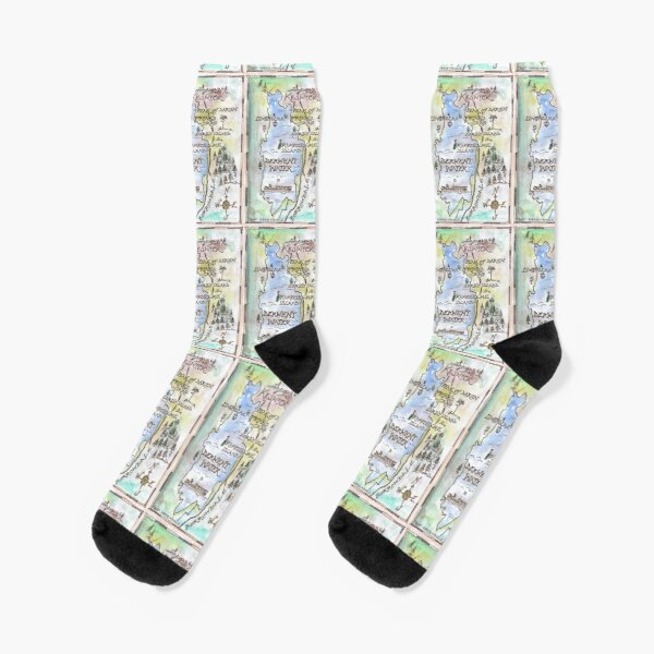 Swallows and Amazons map of Derwentwater by Sophie Neville -  Socks