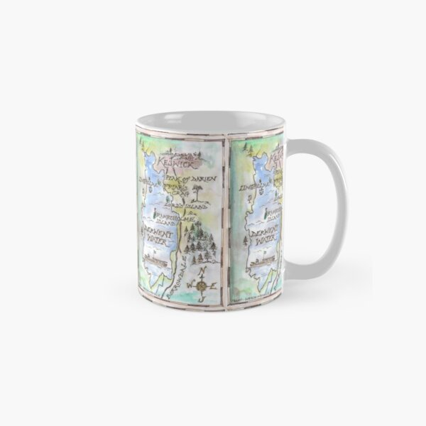 Swallows and Amazons map of Derwentwater by Sophie Neville -  Classic Mug