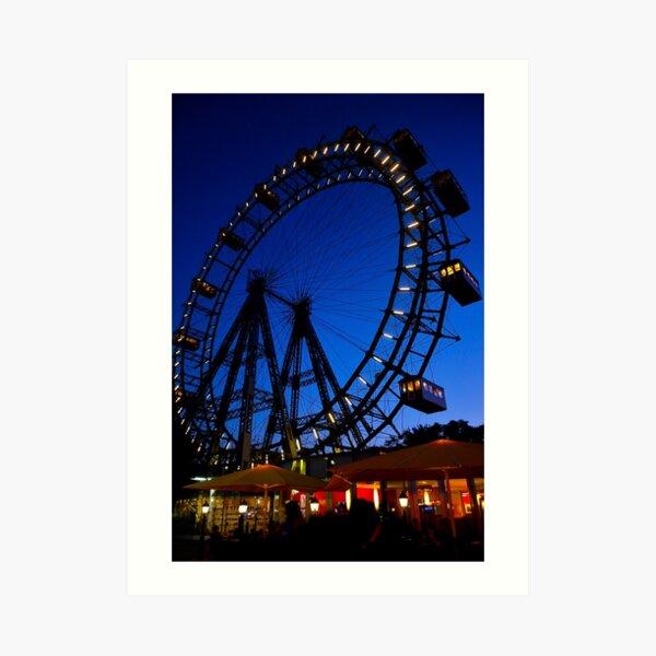 La ruota panoramica del Prater di Vienna Art Print