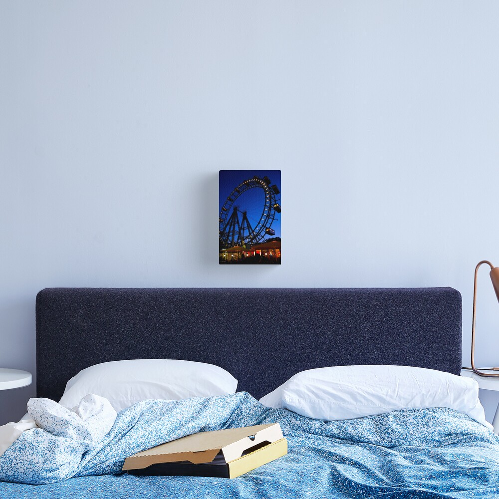 La ruota panoramica del Prater di Vienna Canvas Print