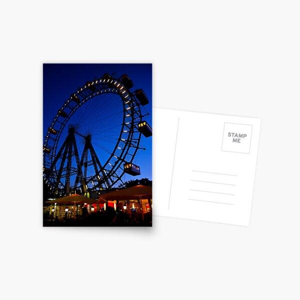 La ruota panoramica del Prater di Vienna Postcard