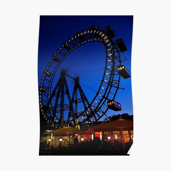 La ruota panoramica del Prater di Vienna Poster