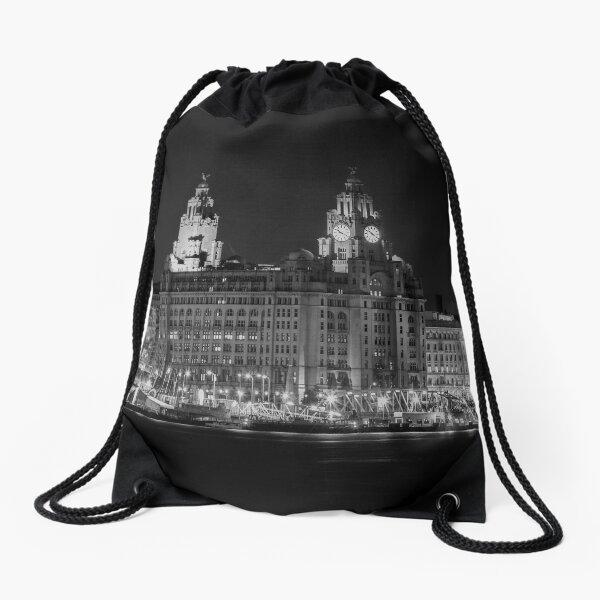 Liverpool waterfront Drawstring Bag