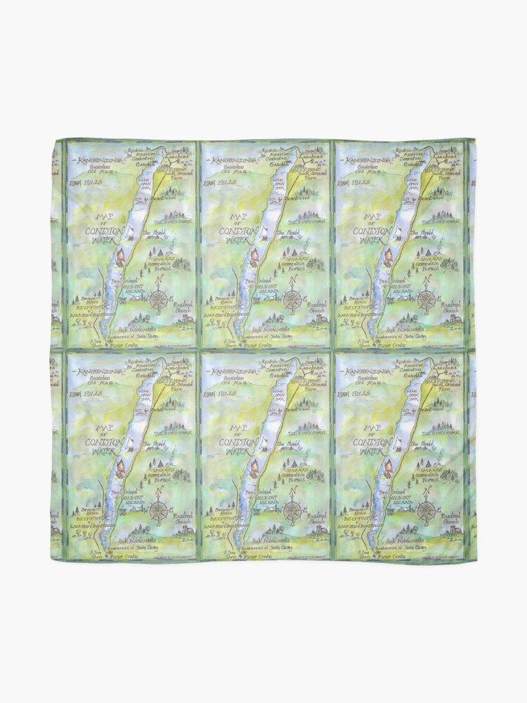 Alternate view of Swallows and Amazons map of Coniston Water -  Scarf