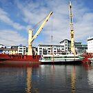 Ferries loaded on the docks, Galway, Ireland. by JoeTravers