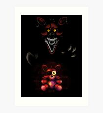 Five Nights at Freddy's - Fnaf 4 - Nightmare Foxy Plush Art Print