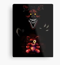 Five Nights at Freddy's - Fnaf 4 - Nightmare Foxy Plush Metal Print