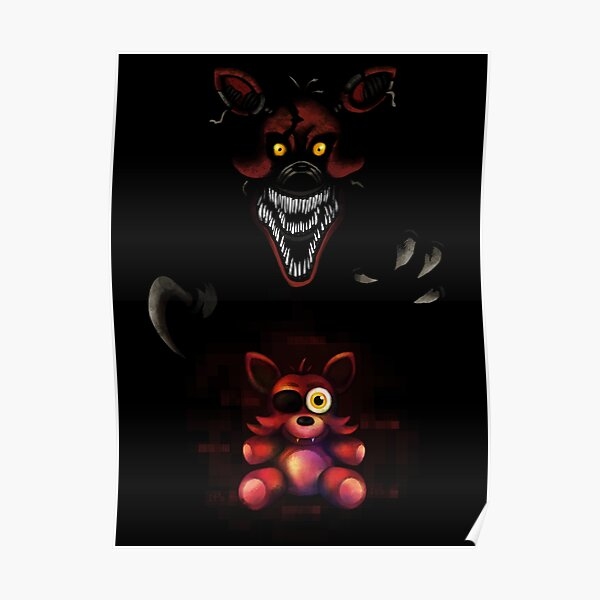Five Nights at Freddy's - Fnaf 4 - Nightmare Foxy Plush Poster