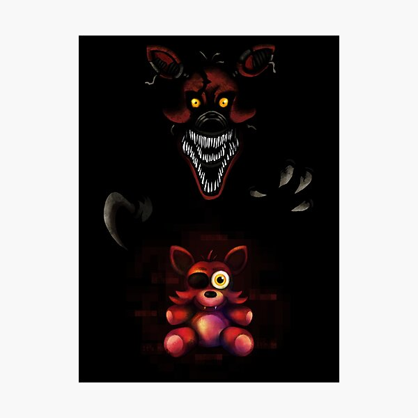 Five Nights at Freddy's - Fnaf 4 - Nightmare Foxy Plush Photographic Print