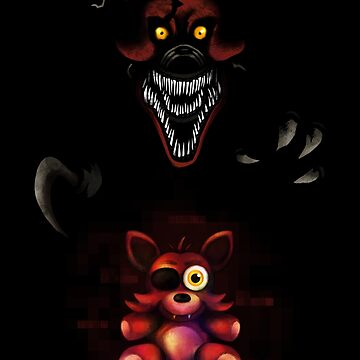 Five Nights at Freddy's - Fnaf 4 - Nightmare Foxy Plush by Kaiserin
