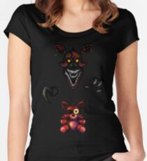 Five Nights at Freddy's - Fnaf 4 - Nightmare Foxy Plush Women's Fitted Scoop T-Shirt