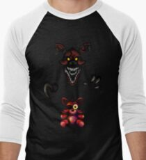 Five Nights at Freddy's - Fnaf 4 - Nightmare Foxy Plush Men's Baseball ¾ T-Shirt
