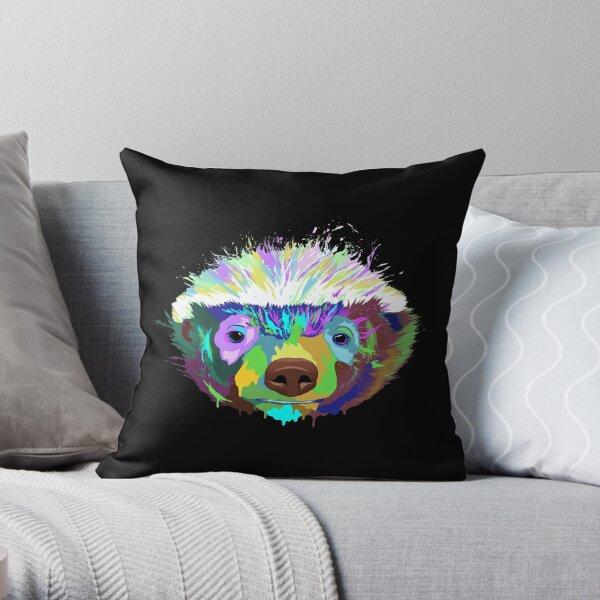 Splash Honey Badger Throw Pillow