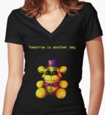 Five Nights at Freddy's - FNaF 4 - Tomorrow is Another Day Women's Fitted V-Neck T-Shirt