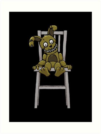 five nights at freddy s fnaf 4 plushtrap art prints by kaiserin
