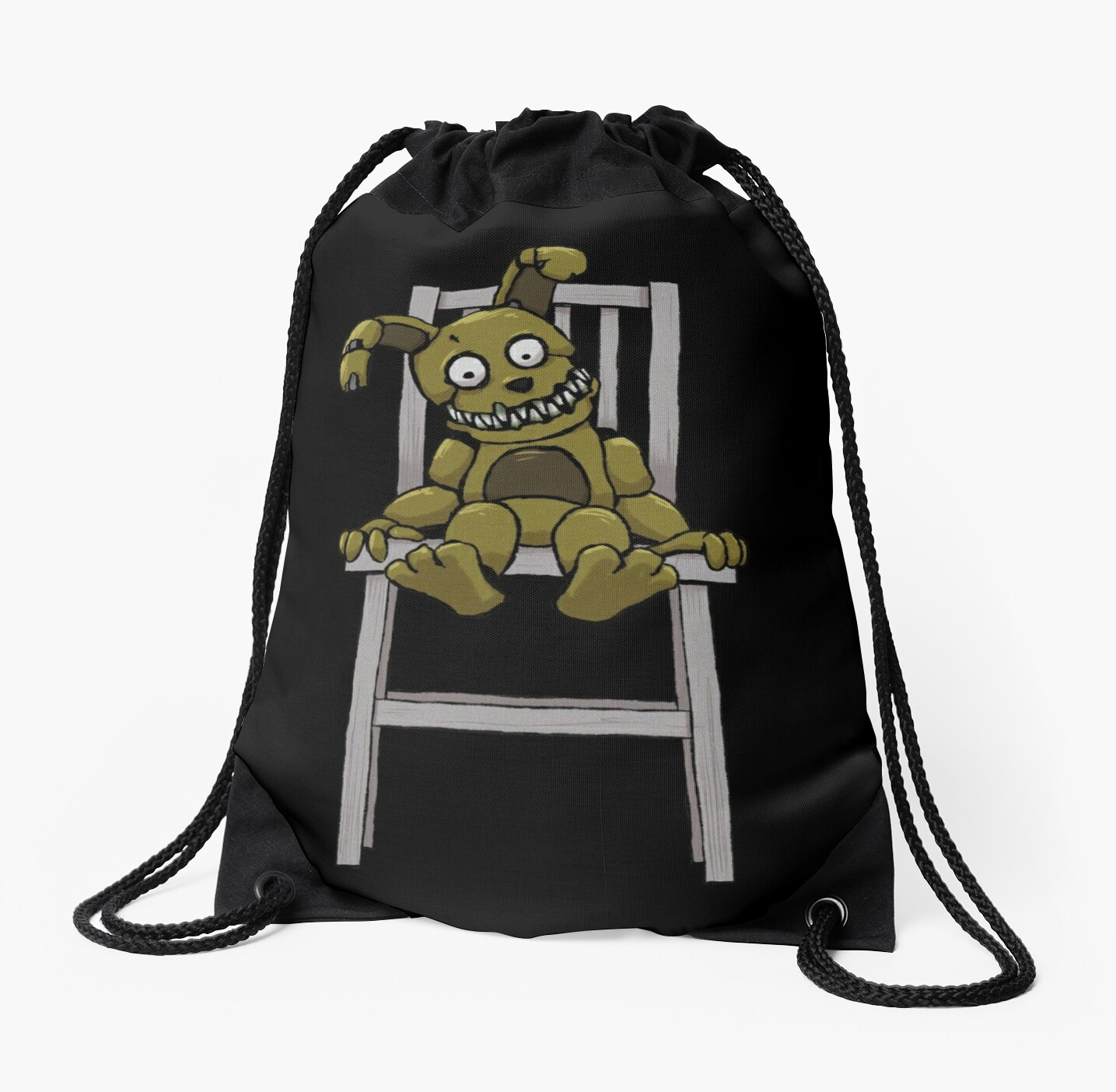 five nights at freddy s fnaf 4 plushtrap drawstring bags by