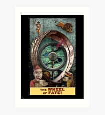 The Wheel of Fate: Circus Tarot by Duck Soup Productions Art Print