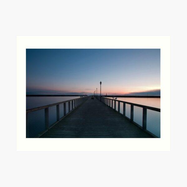 Amble Pier at Sun rise Art Print