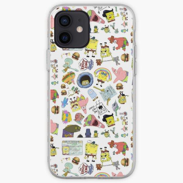 Spongebob square pants iPhone Soft Case