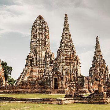 Ayutthaya temple by madebyrina