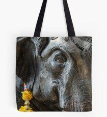 Elephant statue Tote Bag
