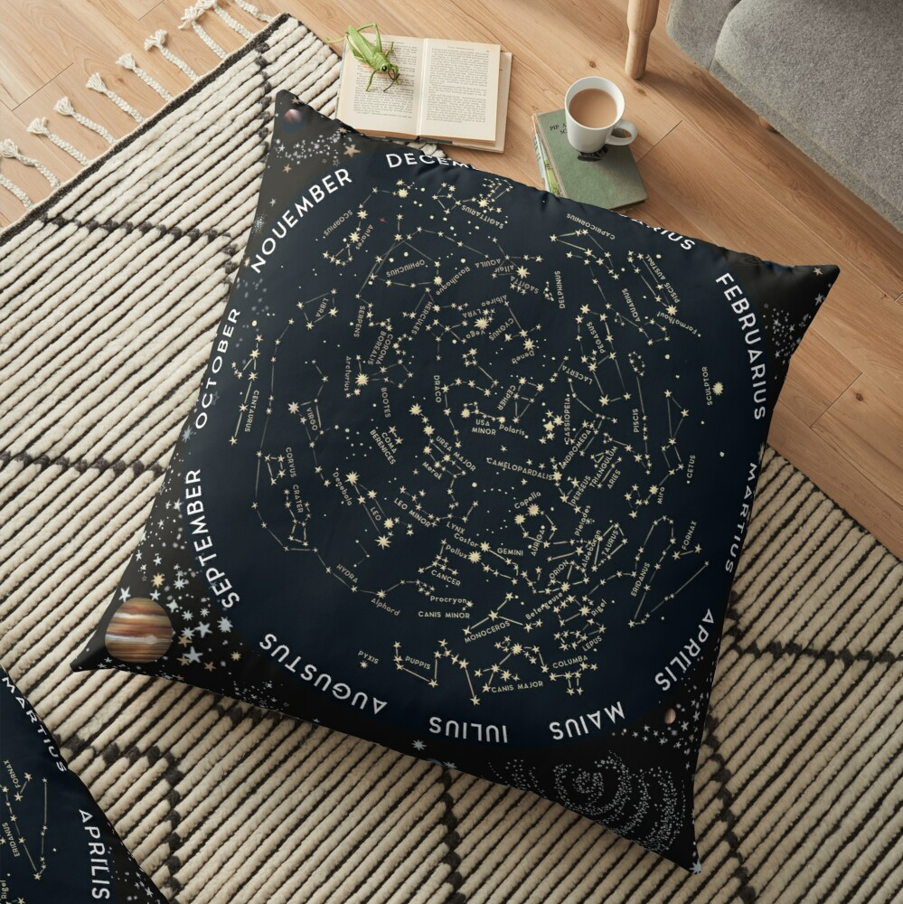 Come with me to see the stars Floor Pillow