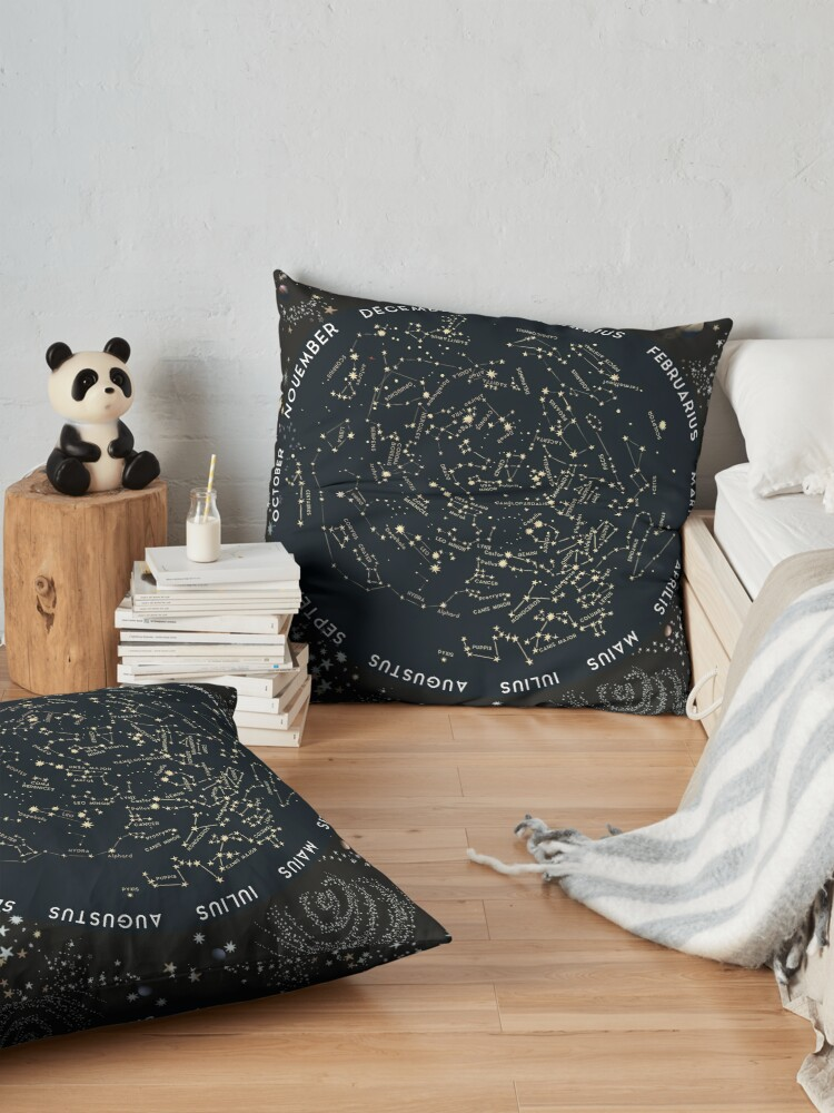 Alternate view of Come with me to see the stars Floor Pillow