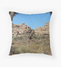 Joshua Tree And The Rock Formations Throw Pillow