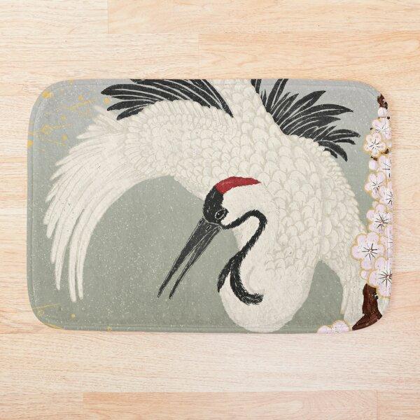 Japanese Crane Bath Mat
