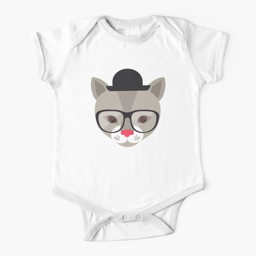 Miss Cool Cat with a hat Baby One-Piece