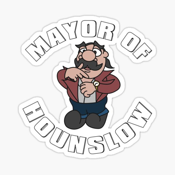 Chabuddy Cartoon Mayor of Hounslow Sticker