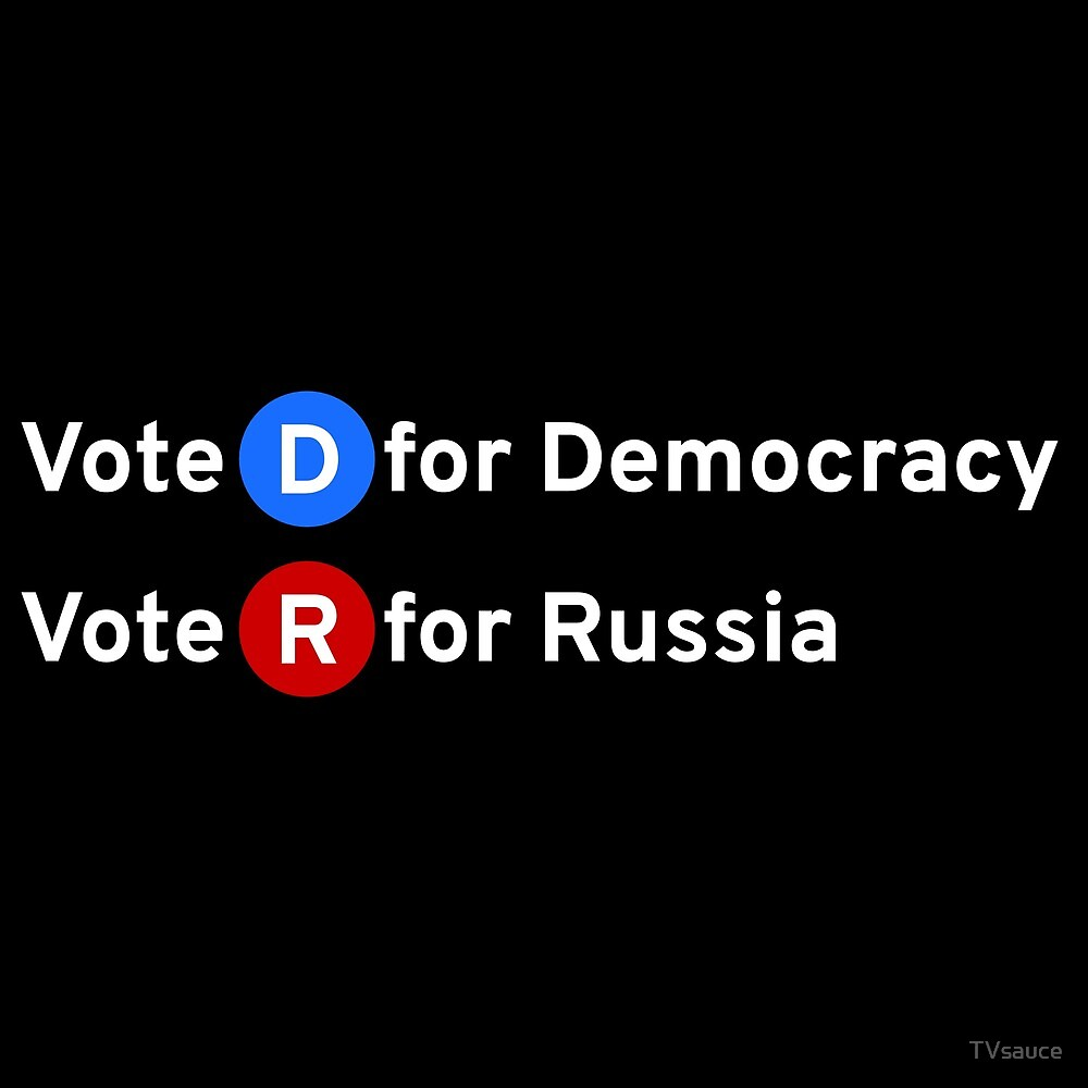 Vote D for Democracy, Vote R for Russia by TVsauce