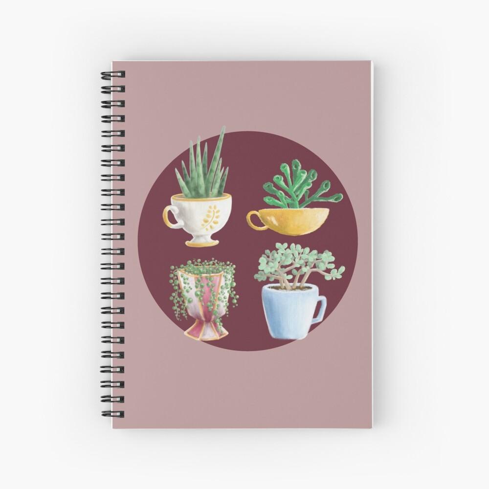teacup succulents Spiral Notebook