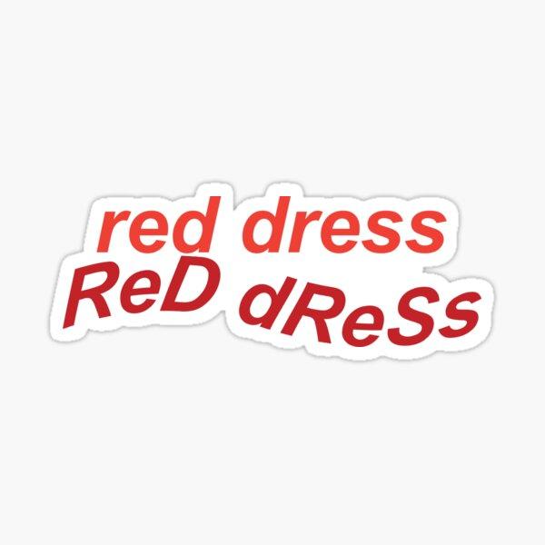 Vestido rojo de Jonas Brothers Pegatina