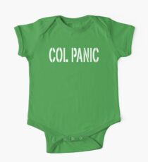 COL PANIC - Punny White on Black Design for Unix/Linux Geeks One Piece - Short Sleeve