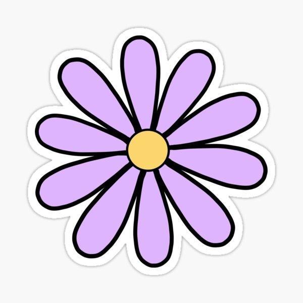 Purple Daisies Sticker