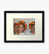 Happy and successful - young dancers Framed Print