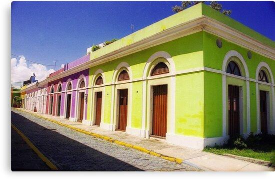 Old San Juan Colours, Puerto Rico by Alberto  DeJesus