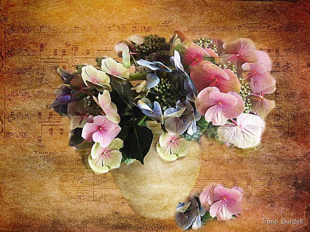 Hydrangea's in a Vase by Irene  Burdell
